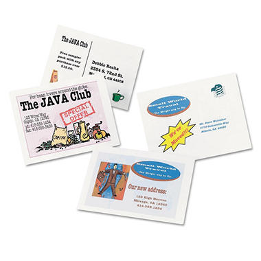Avery 8577 - Postcards / Index Cards, Inkjet, White - 400 Cards