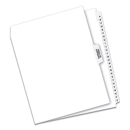 Avery Avery-Style Legal Exhibit Side Tab Divider, Title: A-Z, Letter, White