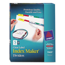 Avery Index Maker Divider with Multicolor Tabs, Select Tab (25 ct.)