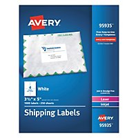 avery 5524 weatherproof laser shipping labels 3 1 3 x 4 300 pack