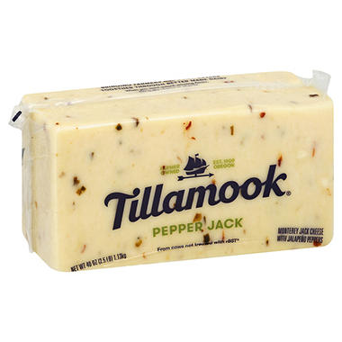 Tillamook Pepper Jack Cheese (2.5 lbs.)