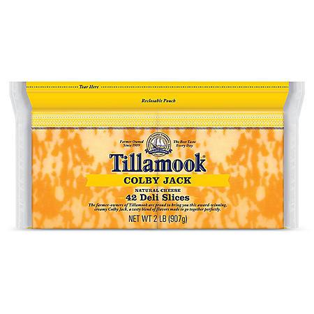 Tillamook Sliced Colby Jack Cheese Slices (32 oz.)