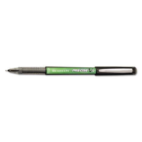 Pilot - BeGreen Precise V5 Roller Ball Stick Pen, Black Ink, Extra Fine -  Dozen