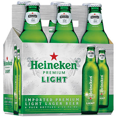 Heineken Light Lager Beer (12 fl. oz. bottle, 6 pk.)