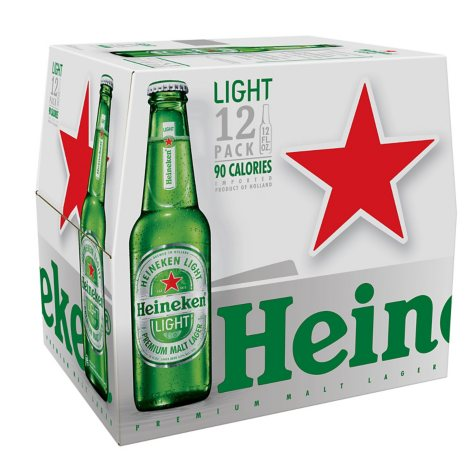 Heineken® Light Lager Beer - 12/12 oz. bottles