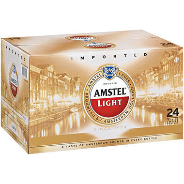Amstel Light Premium Lager (12 oz. bottles, 24 pk.)