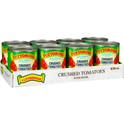 Tuttorosso Crushed Tomatoes w/ Basil (28 oz. cans, 8 pk.)