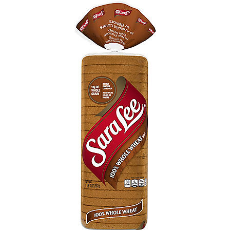 Sara Lee 100% Whole Wheat Bread (20oz / 2pk)