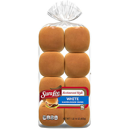 Sara Lee Restaurant Style Hamburger Buns (16pk)