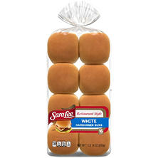 Sara Lee Restaurant Style Hamburger Buns - 16ct