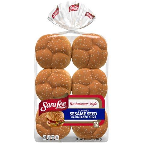 Sara Lee® Sesame Seed Hamburger Buns