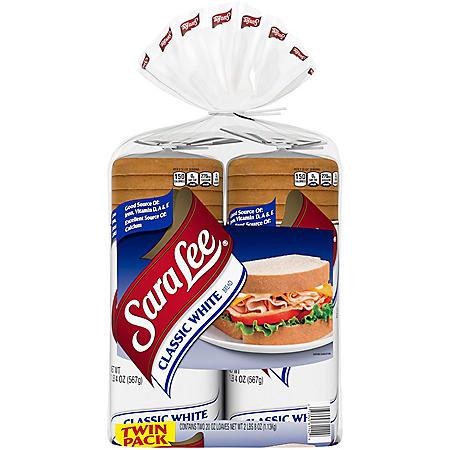 Sara Lee Classic White Bread (20oz / 2pk)