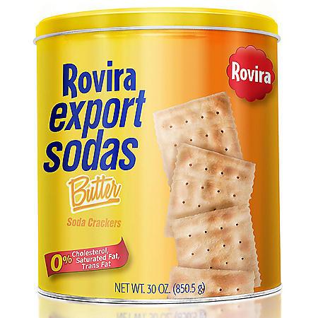 Rovira Export Butter Soda Crackers 30 oz.
