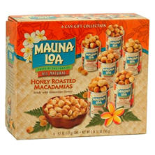 HONEY ROASTED Macadamia Nuts,  6PK