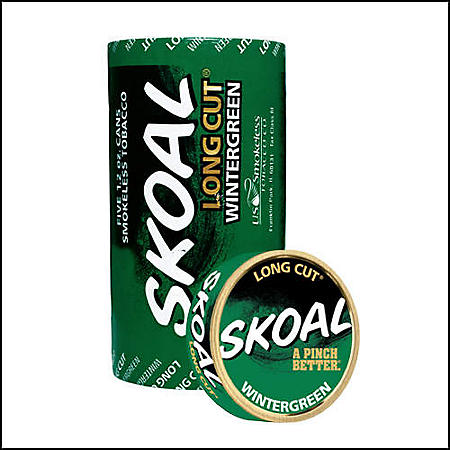 Skoal Long Cut Wintergreen (5 can roll)