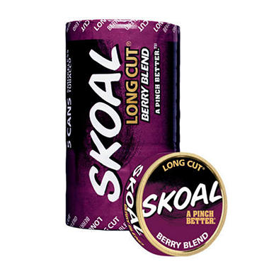 Skoal Long Cut, Berry Blend (5-can roll)