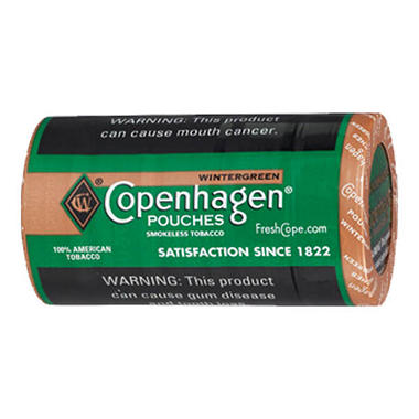 Copenhagen Pouches, Wintergreen (5 can roll)