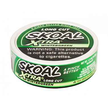 Skoal X-tra Long Cut Wintergreen - 1.2 oz. - 5 cans