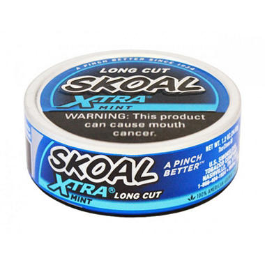 xoffline-Skoal X-tra Long Cut Mint - 1.2 oz. - 5 cans