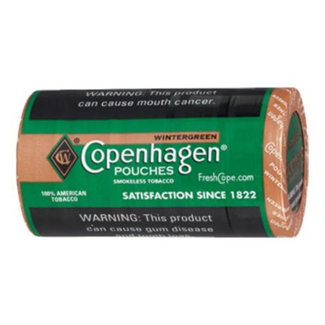 Copenhagen Pouches, Wintergreen (5 can roll) Promo Price