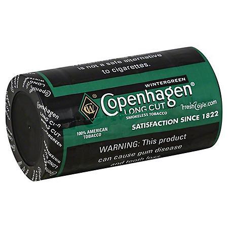 Copenhagen Long Cut Wintergreen (1.2 oz. per can, 5 cans) Promo Price