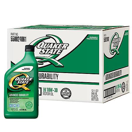 Quaker State 10W-30 Motor Oil (12-pack / 1-quart Bottles)