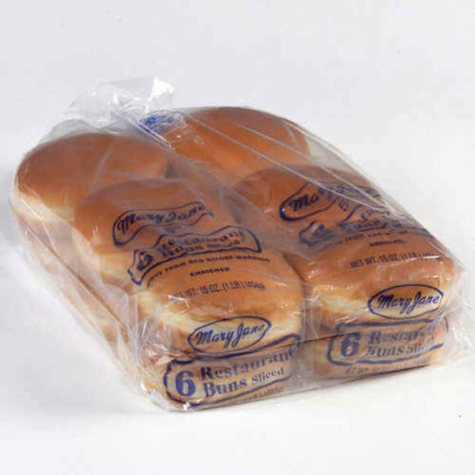 "Mary Jane's 5"" Hamburger Buns - 2/ 6 pks."