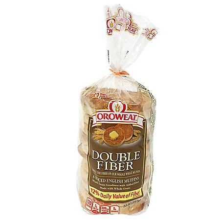 Oroweat Double Fiber English Muffins (6 ct., 14 oz.)