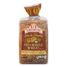Oroweat 100% Whole Wheat Bread (24 oz. loaf., 2 ct.)
