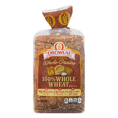 Oroweat 100% Whole Wheat Bread (24 oz. loaf., 2 ct.) - Sam ...