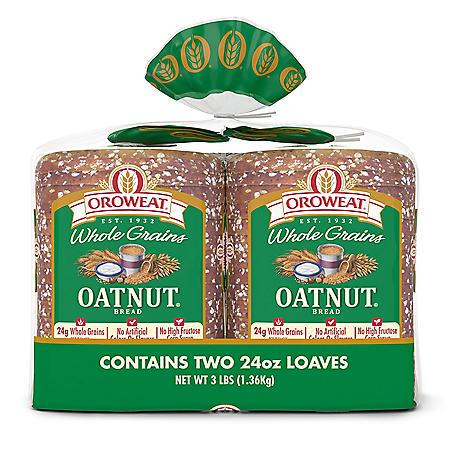 Oroweat Whole Grains Oatnut Bread (24oz / 2pk)