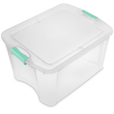 Sterilite 18-Gallon Latch and Carry Tote (Mint)