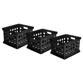 Sterilite File Crates, 3 Pack, Choose a Color