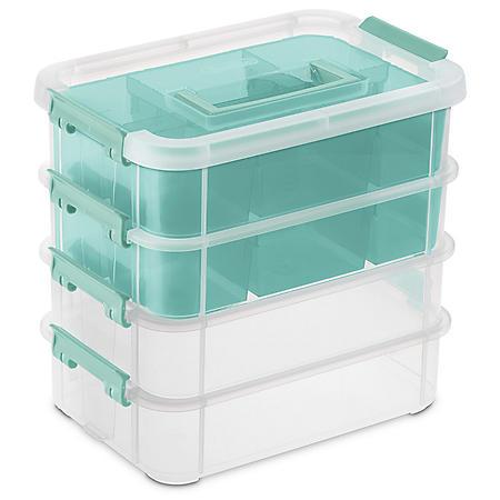 Sterilite Stack & Carry 4 Layer Handle Box & Tray Organizer
