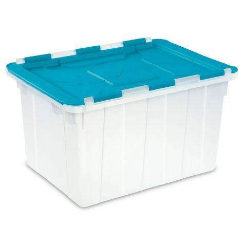 Sterilite 12 Gallon Hinged Lid Tote Box