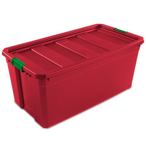 Sterilite 50 Gallon Stackable Storage Tote (Rocket Red)