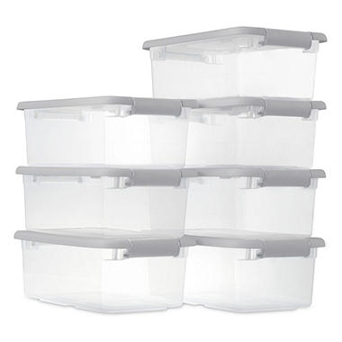 sterilite 6quart storage box set of 7