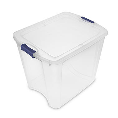 Sterilite 6-Qt. Storage Boxes (12 Count, Stadium Blue)