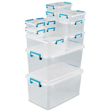 Sterilite 24 Piece Modular Latch Box Set