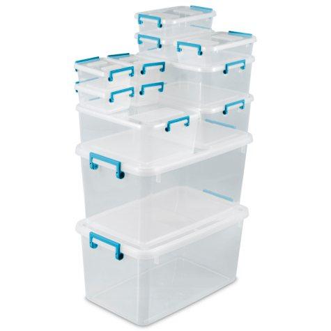 Sterilite 24 Piece Modular Latch Box Set