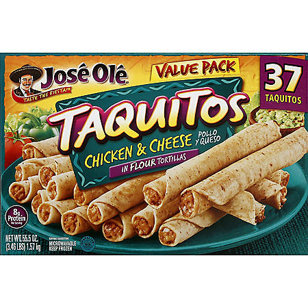 Jose Ole Chicken and Cheese Taquitos, Frozen  (37 ct.)
