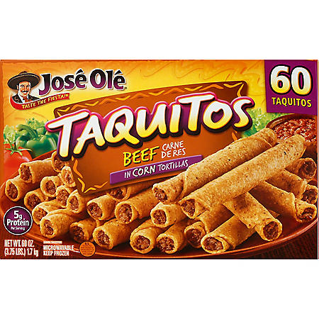 Jose Ole Beef Taquitos, Frozen (60 ct.)