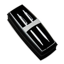 Cross - Classic Century Ballpoint Pen & Pencil Set - Chrome/Black Accent