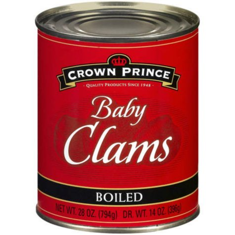Crown Prince Boiled Baby Clams - 28oz