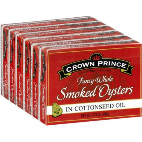 Crown Prince Smoked Oysters - 6/3.75oz