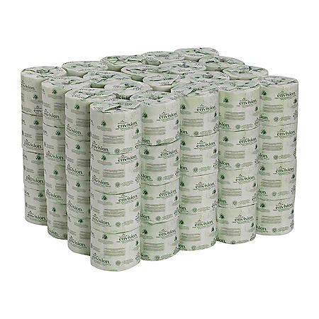Georgia Pacific Envision, Recycled Bath Tissue, 2-Ply, 550 Sheets - 80 Rolls Toilet Paper
