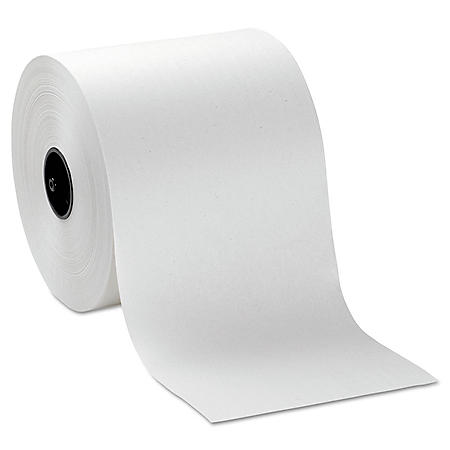SofPull® Hardwound Roll Paper Towels, White, 1000 ft, 6 Rolls Per Case