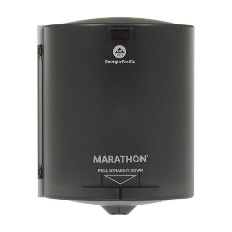 Marathon Center-Pull Towel Dispenser, 300 Sheet Capacity (Smoke)