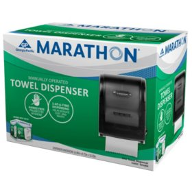 Marathon Manual Roll Towel Dispenser, 700 Ft. Capacity (Smoke)