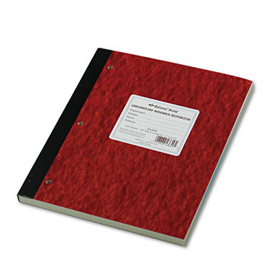National Brand - Duplicate Lab Notebook, Quadrille Rule, 9-1/4 x 11, WE/Canary -  200 Sheets